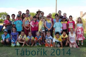 Skupinové foto všech účastníků Táboříku 2014 ve Zhoři.